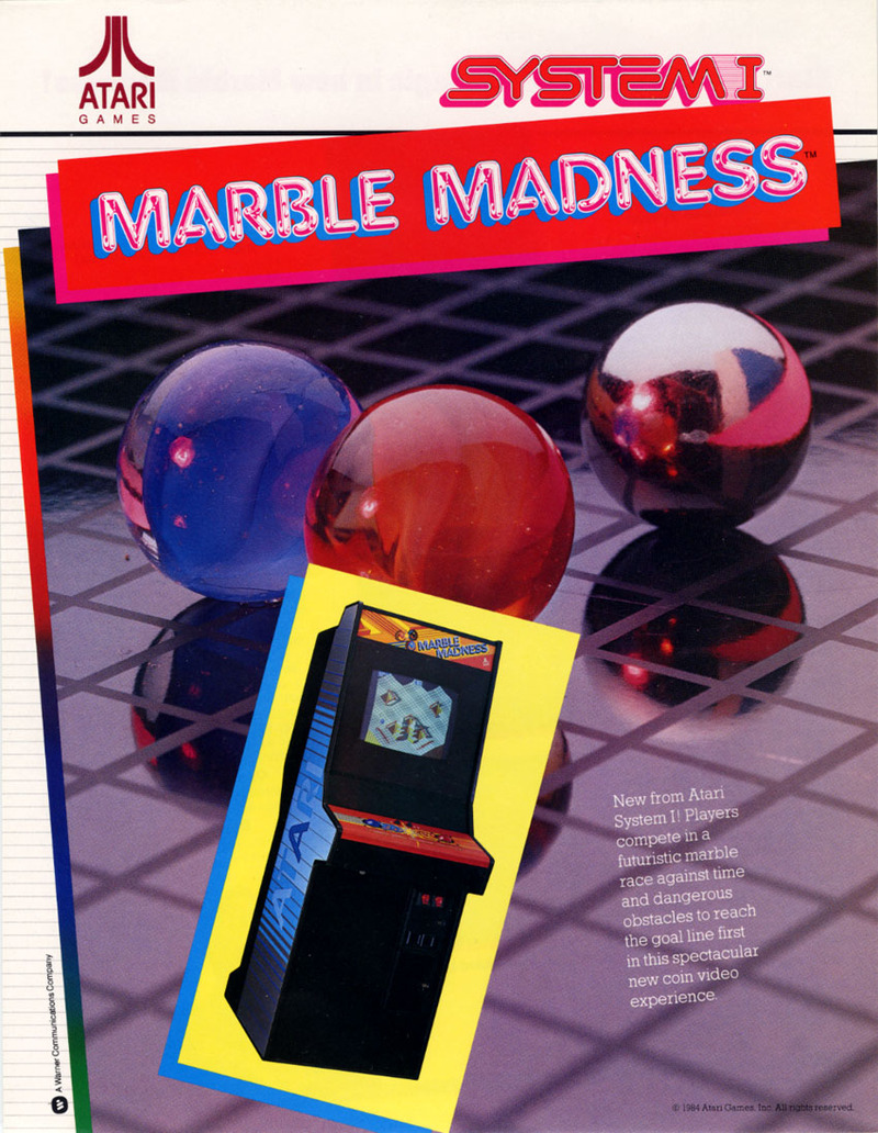 Marble Madness Arcade Game For Sale Vintage Arcade
