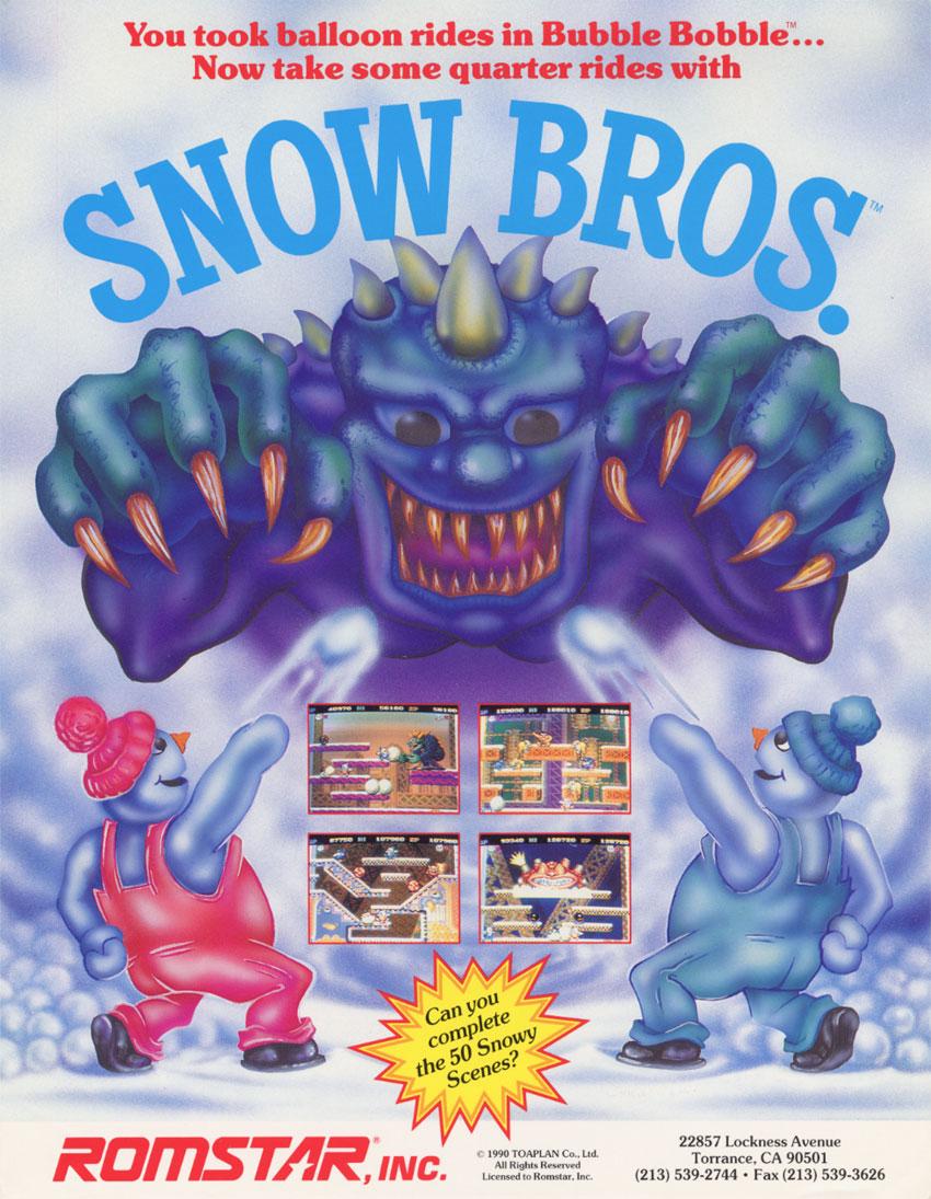 Snow Bros Vintage Arcade Superstore