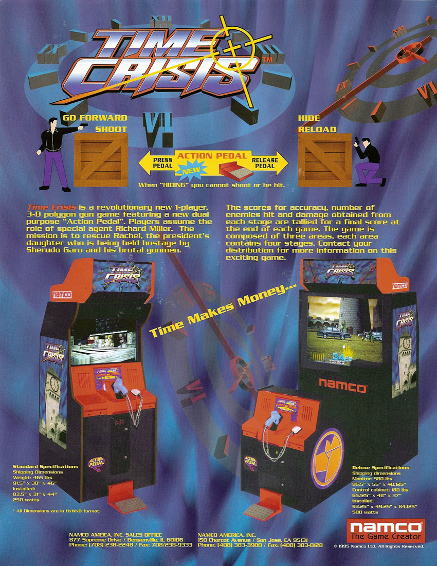 Time Crisis Arcade Game Vintage Arcade Superstore
