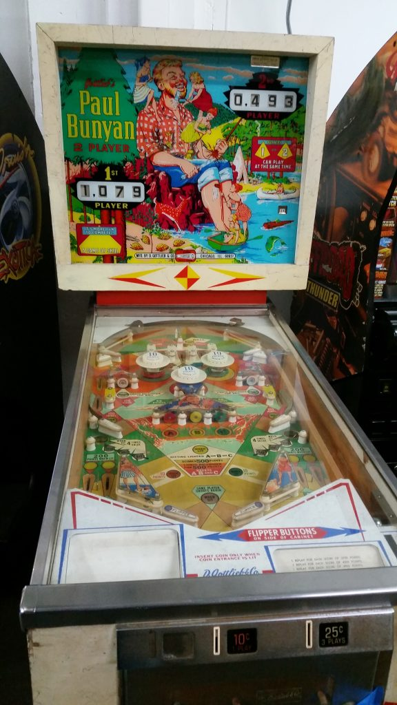 Paul Bunyan Pinball Machine Vintage Arcade Superstore